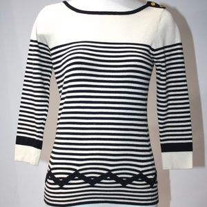 MILLY STRIPED SWEATER SIZE PETITE